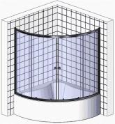 Схема душевых ограждений для ванн RiveR  EGER 120(135/150) МТ